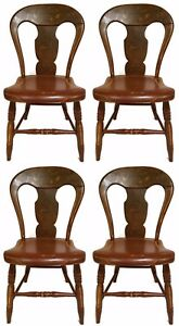 1800-1899 《free Shipping》 1800s Hitchcock Era Federal Pennsylvania Fancy Painted Chairs Finely Processed