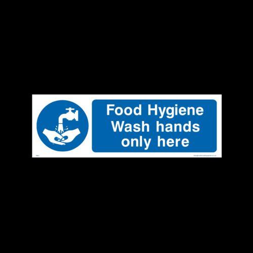 Lavare le mani solo qui Firmare MISC1 // 54 Adesivo-Tutte le Taglie e materiali