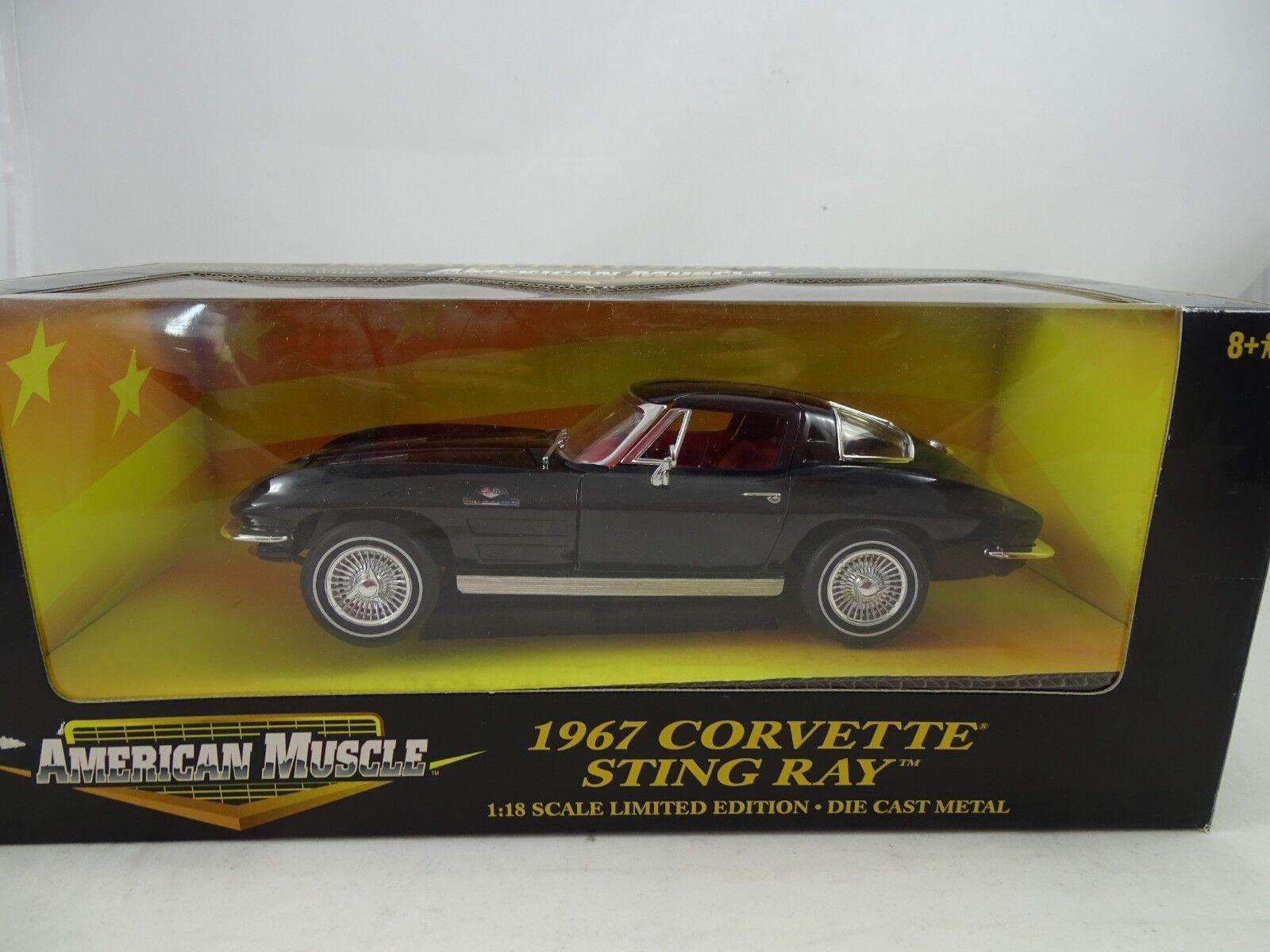 barato y de alta calidad 1 18 Ertl    32513-1967 Corvette Stingris Negro - Rareza§  moda clasica