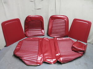 Phenomenal Details About 1965 Mustang Standard Front Bench Seat Upholstery Repro Red Tmi 1966 Mustang Ibusinesslaw Wood Chair Design Ideas Ibusinesslaworg