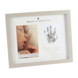 Bambino-Unisex-Handprint-Photo-Frame-amp-Ink-Pad-Mummy-s-1st-Mother-s-Day