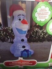 gemmy 6 ft disney frozen olaf christmas lighted airblown inflatable decoration - Olaf Outdoor Christmas Decoration