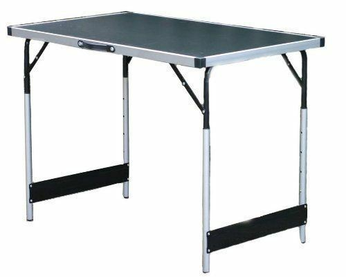 Folding camping table garden hight adjustable mobile small BBQ picnic outdoor