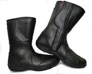 LV11-Motorcycle-Black-Leather-Water-Resistant-Motorbike-Winter-Racing-Boots