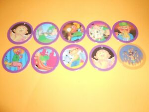190 Pogs Pog Caps Milkcaps Flippo : Lot De 10 Hoppies