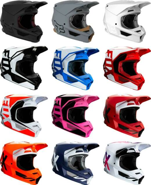 2019 Fox Racing V1 MATTE Helmet  MX Motocross Dirt Bike Off-Road ATV Adult MTB