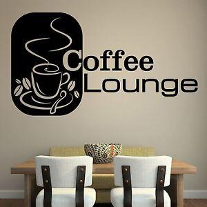 XXL Coffee Lounge Text Tasse Wandtattoo Aufkleber Küche Kaffee | eBay