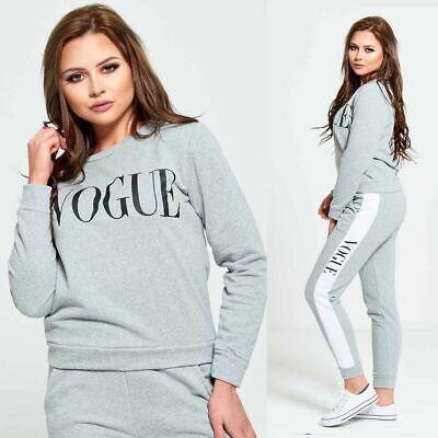 Plus Size Ladies Animal Leopard Print Grey Black Two Piece Lounge Suit Tracksuit