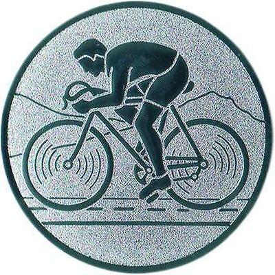 100 Embleme D:25mm Radsport Rennrad Fahrrad ( für Pokale Emblem Medaillen)