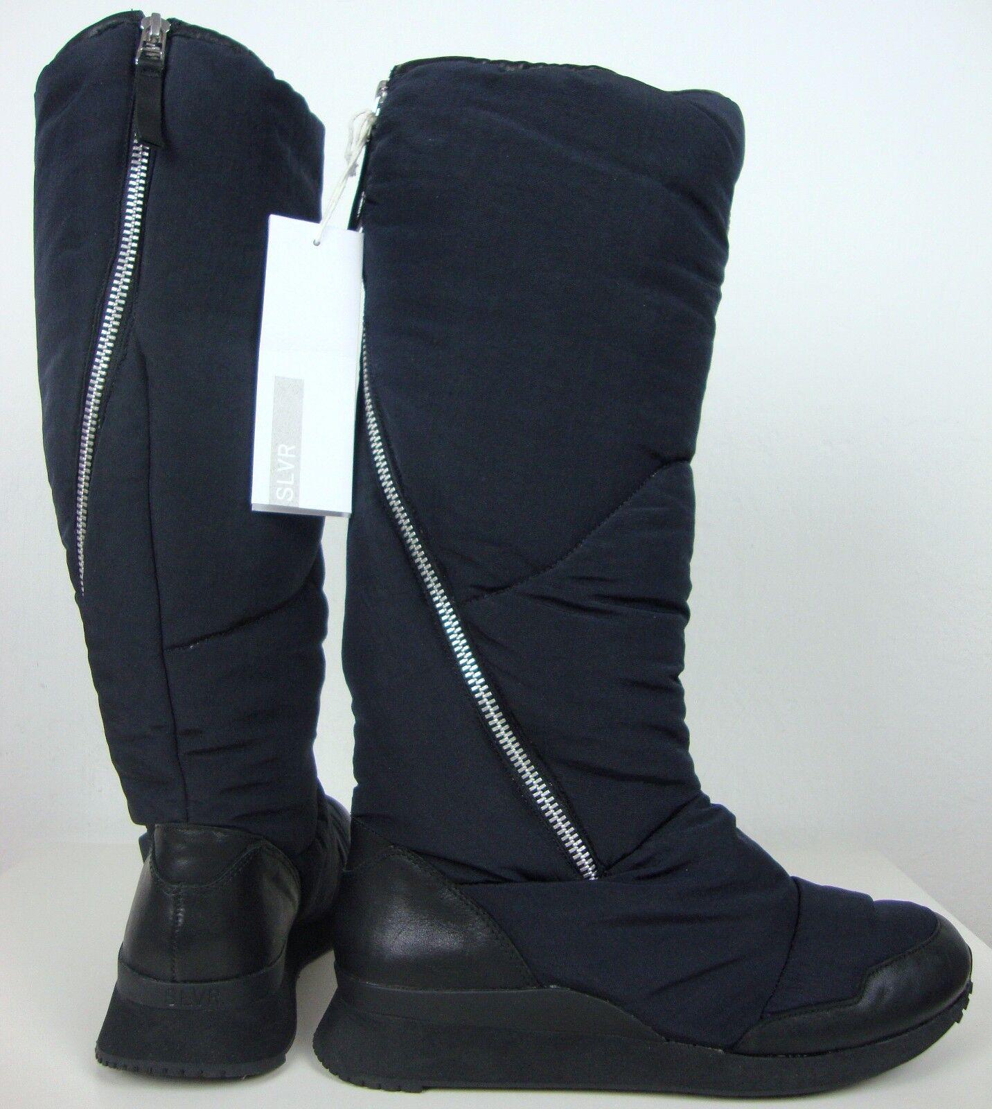 Adidas Silver zansar Flat señora botas caña botas negro Gr. 38,5 nuevo
