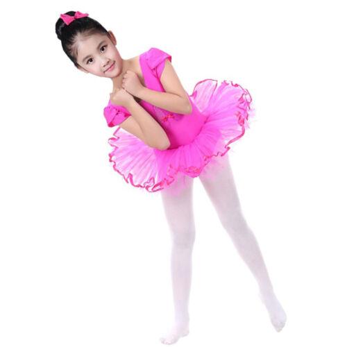 Toddler Girls Gauze Leotards Ballet Bodysuit Dancewear Dress Clothes Outfits KW
