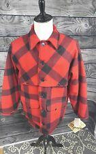 Nwt Filson Double Mackinaw Cruiser Buffalo Plaid Wool Coat Jacket Size 44 USA