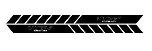 VVTI vvt-i dohc side body stripes decal jdm vinyl car doors bumper set of 2