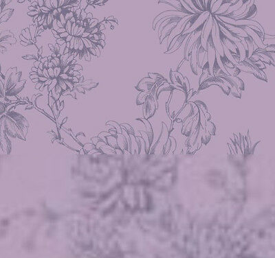 Vintage HOC Clara Dusky Plum Purple Wallpeper For feature//accent wall.