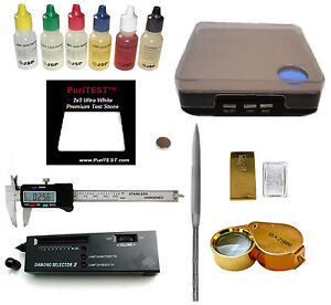 Gold/Silver Test Kit +Digital Scale Electronic Diamond Tester Jewelry +Calipers
