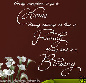 wall stickers quotes home family blessing vinyl wall art decal