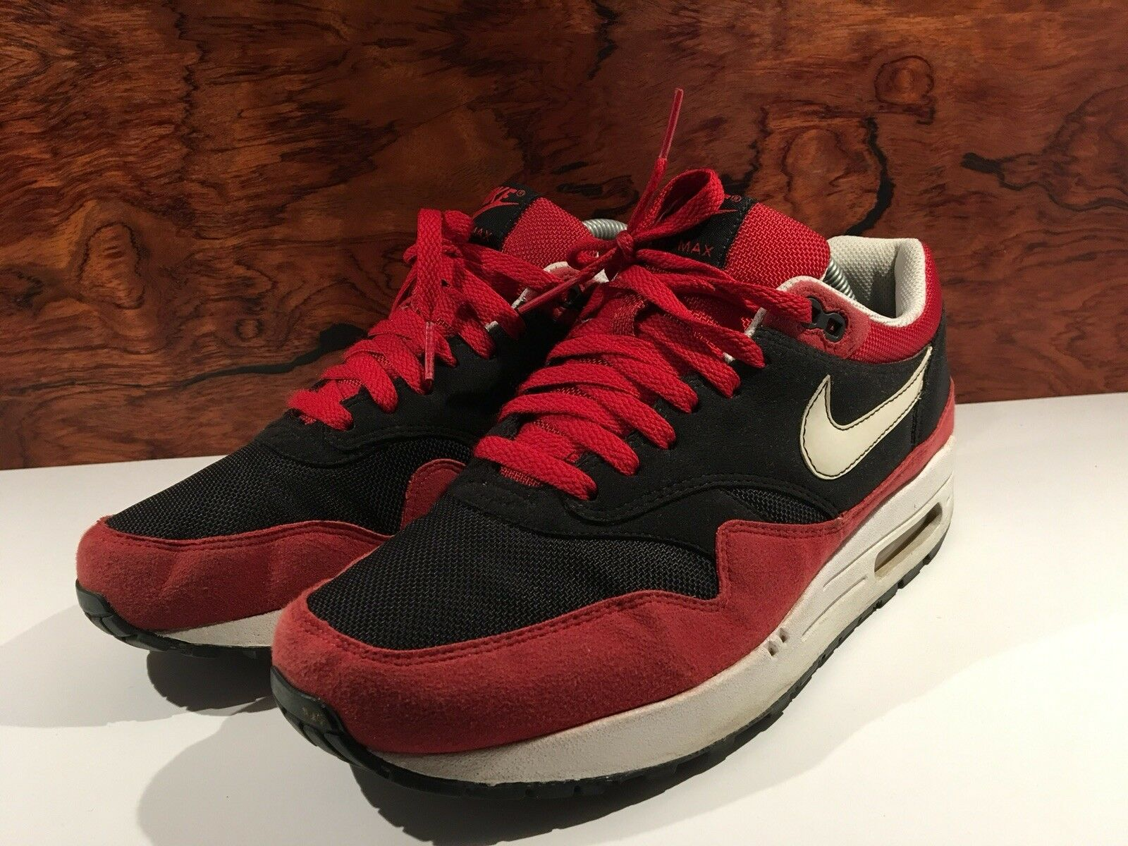 Nike Air max 1 og red qs Patta 87 US 8,5 42 v. 2008 hoa rot schwarz