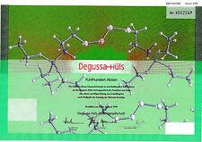 Degussa-Hüls Frankfurt dekorativ Aktie 1999 Evonik Industries Essen Marl Hessen