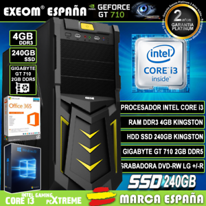 Ordenador-Gaming-Pc-Intel-i3-4GB-SSD-240GB-GT710-2Gb-Wifi-Sobremesa-Windows-10
