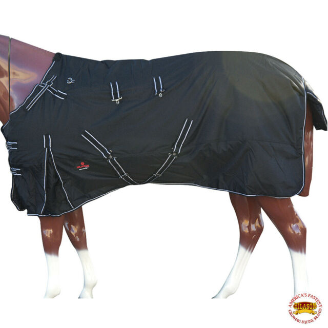 "C-2-78 78/"" Hilason 1200D Ripstop Waterproof Turnout Winter Horse Blanket  Black"