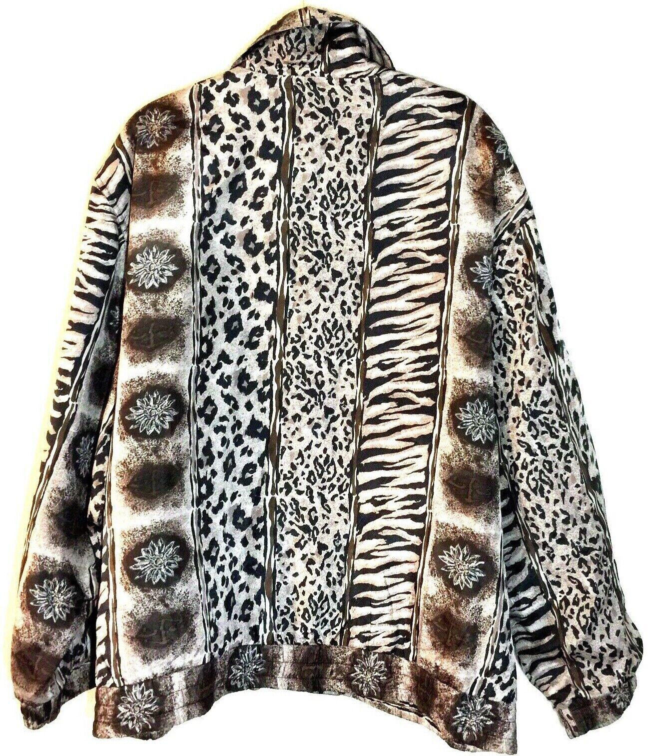 Women's Fuda International Zip Jacket ~ Sz L~ Ani… - image 3