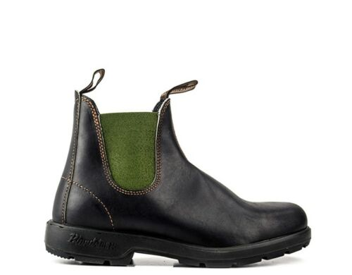 Fabric 519U Dark Brown//Green Leather Natural Shoes Blundstone Man Jade T