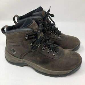 4a3401c55c3 Timberland Flume Mid Waterproof Boots Brown Leather Hiking Women's ...