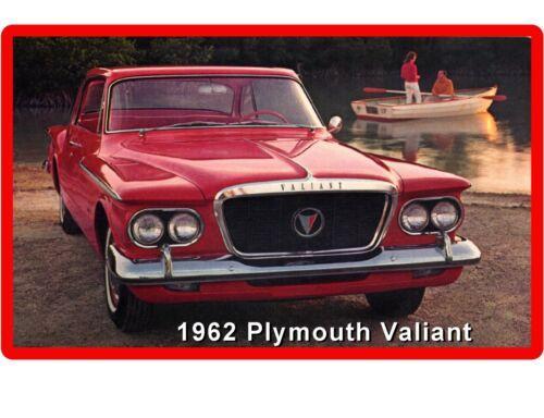 1962 Plymouth Valiant  Auto Car Refrigerator Tool Box Magnet