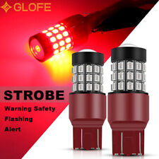 2x 7443 7440 Red Flash Strobe Stop Brake Light Led Bulb For Honda Civic Cr V Crv