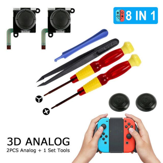 8x Switch Joy-Con Replacement Joystick Thumb Stick 3D Analog Kit For Nintendo
