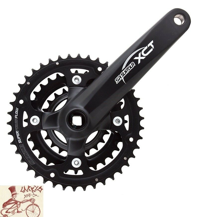 SR SUNTOUR XCT 175MM 22T 32T 42T 6 7 8-SPEED MTB  BICYCLE CRANK SET