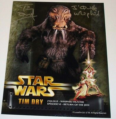 81 TIM DRY STAR WARS 10x8 PHOTO SIGNED -