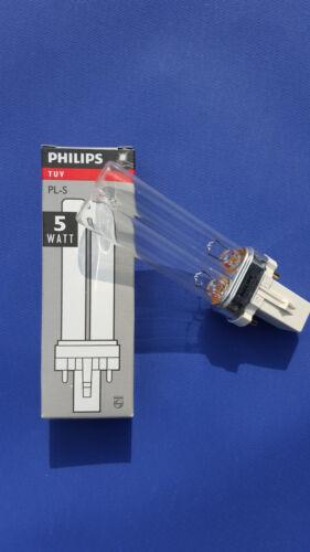 Philips TUV PL-S 5W//2P G23 UVC-Ersatzlampe 5 Watt Teich Filter Algen Oase