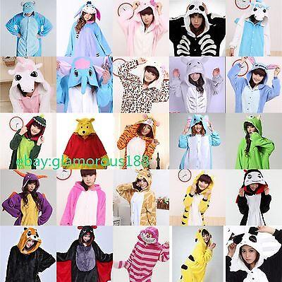 Hot Unisex Pajamas Kigurumi Halloween Cosplay Costume Animal Onesie Sleepwear