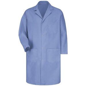Red-Kap-5-Button-Med-Blue-KP14MP-Unisex-Lab-Shop-Coat-Set-of-6-over-40-off