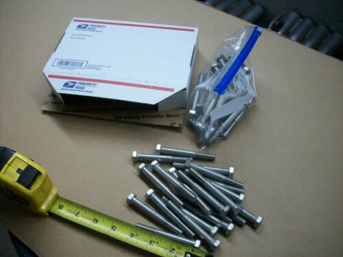 """STAINLESS STEEL HEX CAP SCREW BOLT 3//8/"""" 16 x 3/"""" NC 20 BOLTS 304 18-8 STAINLESS"""