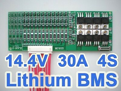 4S 30A 14.8V Li-ion Lithium Battery BMS PCB Protection Board Cell Balafb
