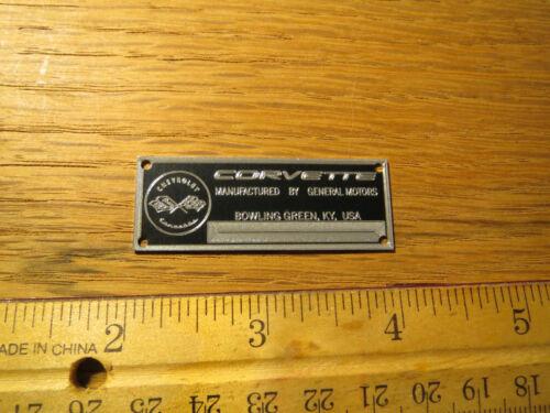 Chevrolet Corvette Metall Display Plakette Modelle /& Druckguss 1//12 1//24
