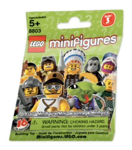 Unopened LEGO SERIES 3-8803-Hula Dancer-Collectible Minifigure-New Sealed Pack