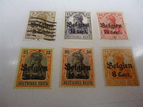 Lot of 6 Vintage Official Belgium Occupation Stamps Unused and Used - Make Offer