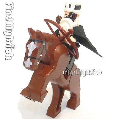 NEW Lego Three Kingdoms Custom Huang Zhong Minifigure & Horse 三国の黃忠 神兵落月弓 と 燎原火