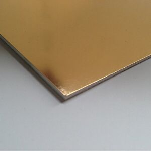 2mm Gold Mirror HIPS High Impact Polystyrene Sheet 4 SIZES TO CHOOSE
