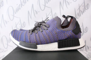 68410622024a ADIDAS ORIGINALS NMD R1 PRIMEKNIT STLT SZ 11 HI RES BLUE BLACK WHITE ...