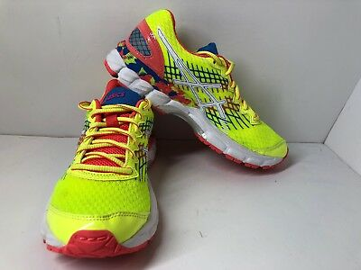 Asics Gel Nimbus 17 GS FlashYellowPinkBlue C519N Youth Size 4.5 New No Box | eBay