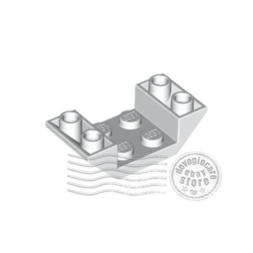 6x LEGO 4871 Inclinato inverso 45 4x2 Bianco4173943