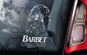 Barbet-a-Bordo-Coche-Ventana-Pegatina-Frances-Agua-Perro-Pistola-Signo-V01