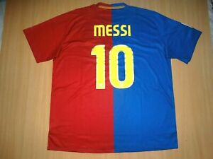 best service b06cb b6878 Details about ~ MINT~ Barcelona MESSI 2008 2009 home soccer shirt XXL  jersey Nike unicef sale