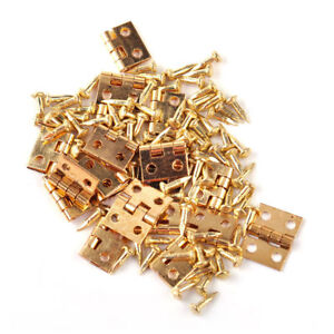 20x-Miniature-Hinges-Nails-Screws-fits-Dollhouse-1-12-Scale-Cabinet-Furniture