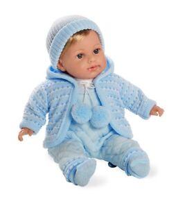 Poupées Dream Arias Poupées Elian 42 cm avec module de la parole sucette poupée bébé