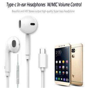 184fc660ec1 USB-C Type-c Earphone In-Ear W/Microphone Headset Deep Bass&HIFI ...